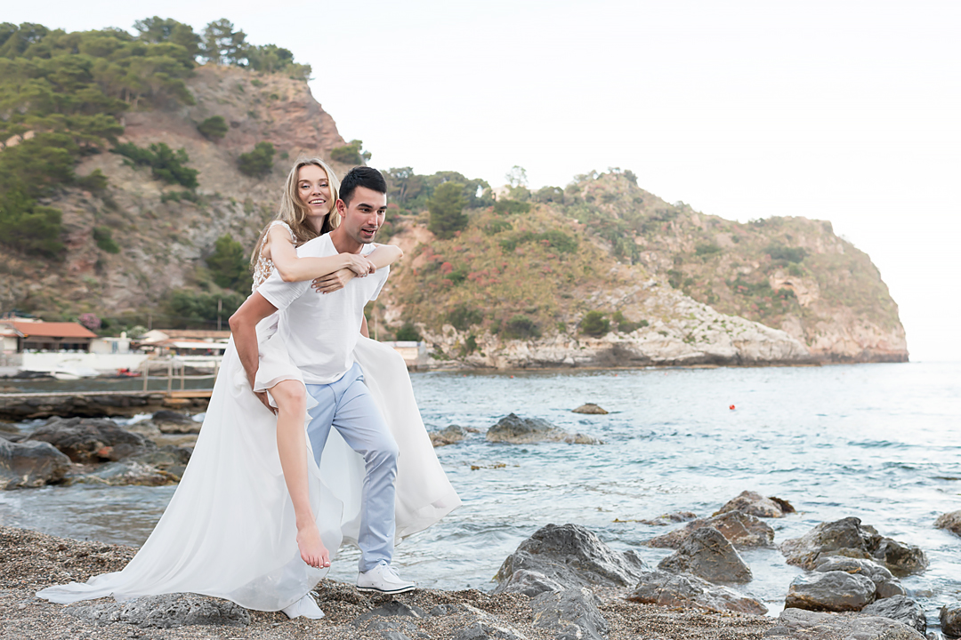 beach wedding taormina