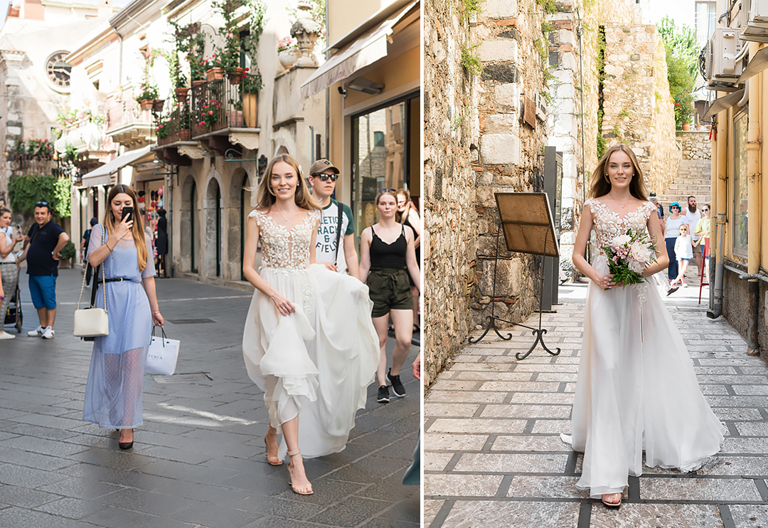 bride in taormina sicily