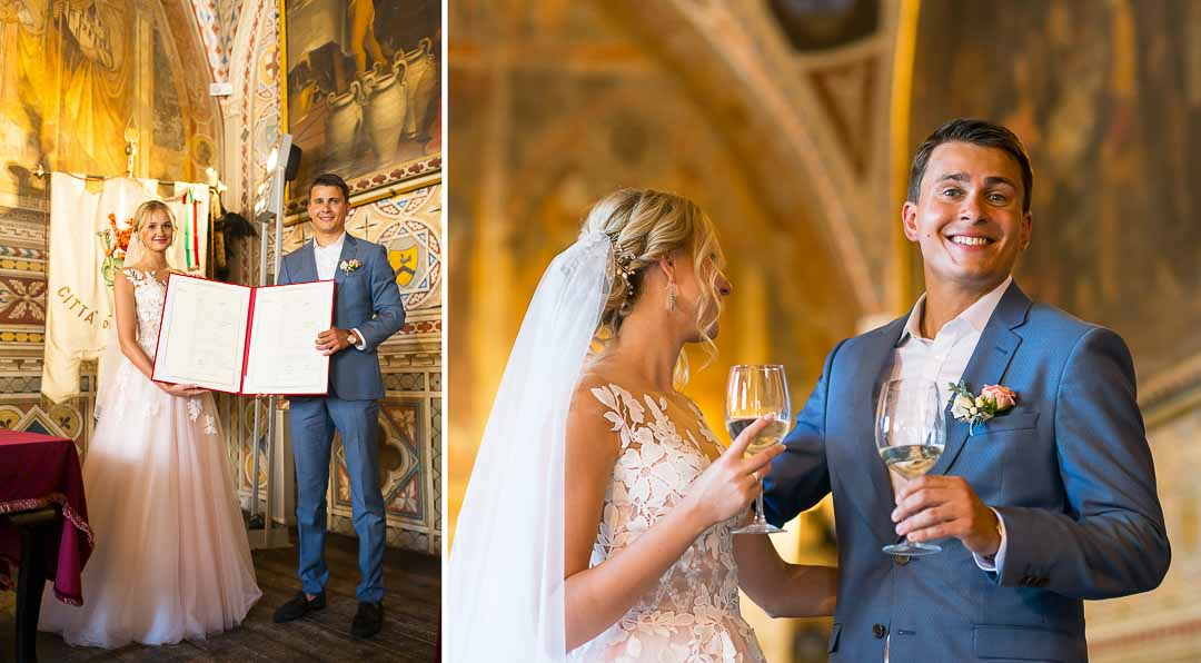 official wedding in volterra