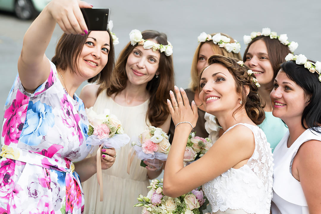 selfie with bride sestri levante