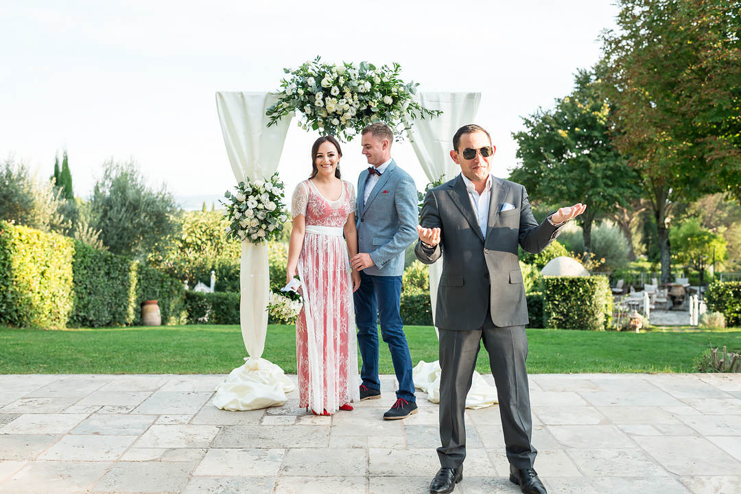 symbolic wedding ceremony in umbria