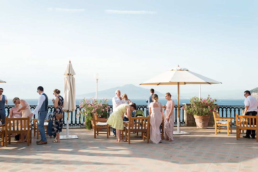 terrace panoramic view gulf of naples