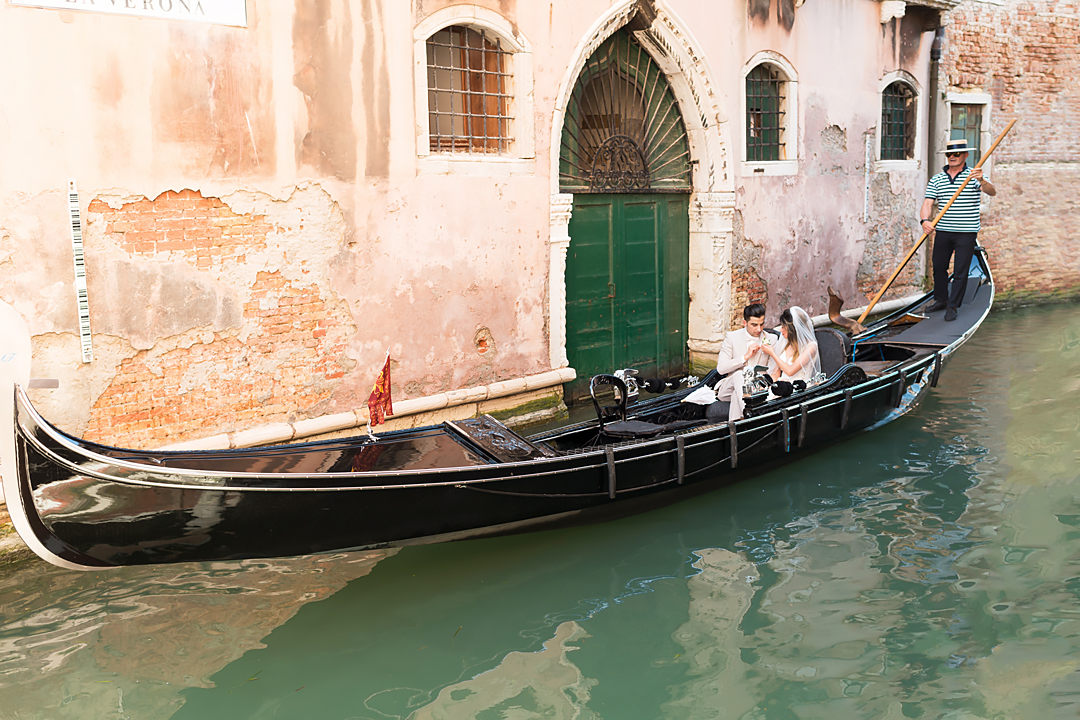 wedding in gondola venice