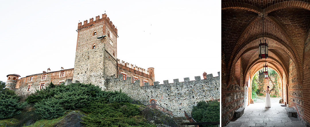 wedding in medieval castle in italy piedmont