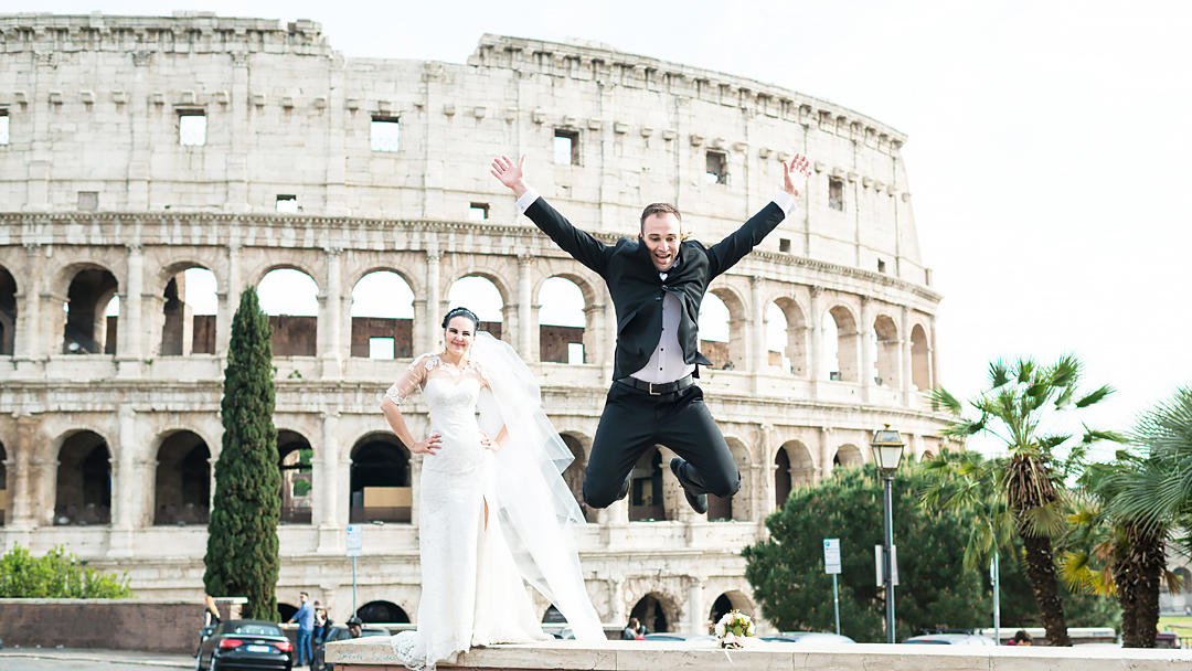wedding in rome in italy