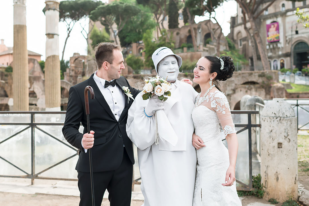 wedding photo shoot in rome