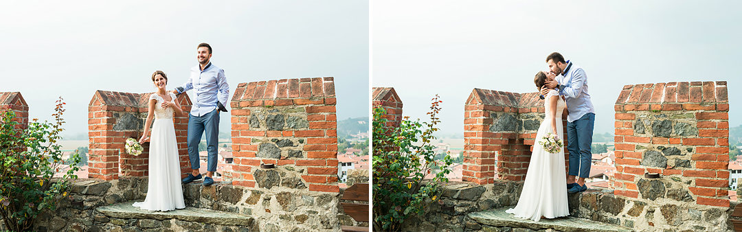 wedding photos in medieval castle in italy