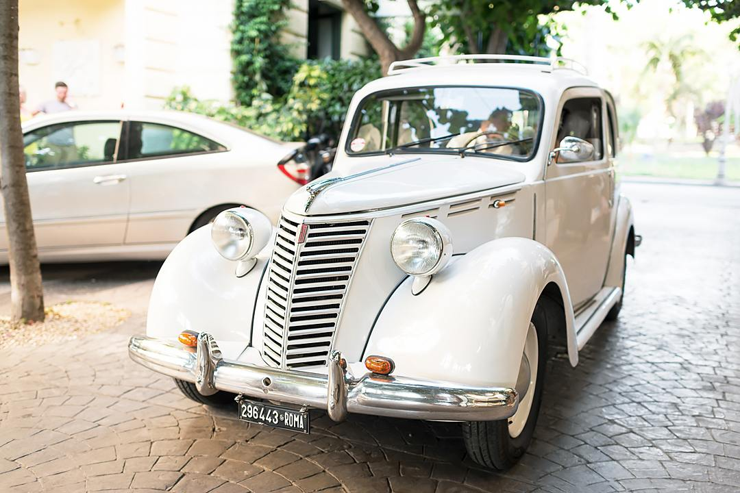 wedding retro car sorrento