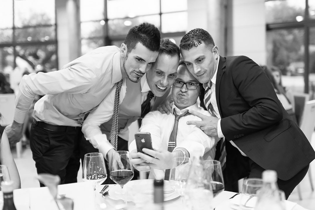 wedding selfie with groom